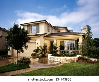 Home Exterior of House with Landscaping