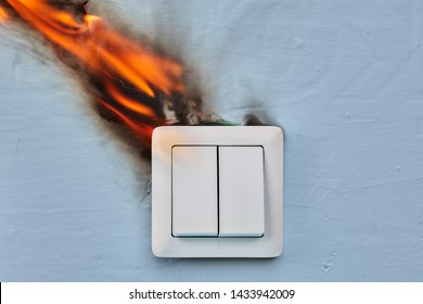 Home fire caused by faulty wiring in light switch.