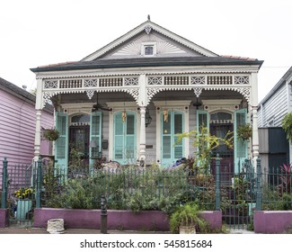 A home in the French Quarter of New Orleans in Louisiana.
