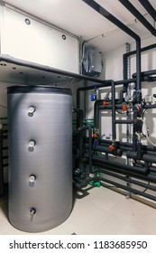Home heating installations with boilers and pipes