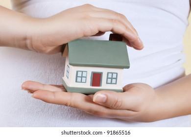 Home in human hands.