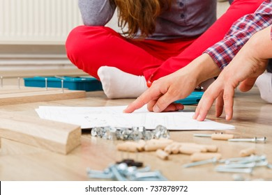 Home improvement, do it yourself activity in new home.