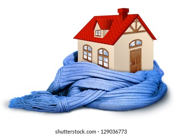 Home insulation, illustration conceptual isolated on white