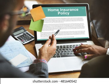 Home Insurance Policy Form Concept