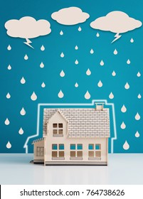 Home Insurance protection concept