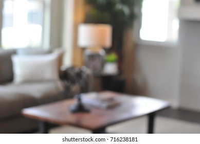 Home interior. Abstract blur luxury for background