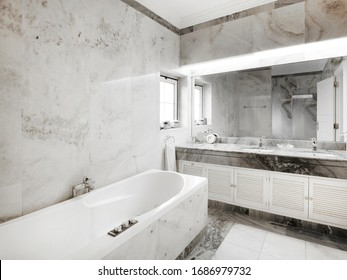 Home interior, classic bathroom. Vintage.