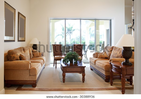 Home Interior Living Room Couches | Royalty-Free Stock Image