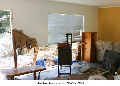 Home at Keesler AFB, MS destroyed by Hurricane Katrina.  Taken on September 7, 2005.