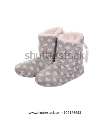 Home Knitted Ugg Boots Fur Inside Stock Photo Edit Now 102196453