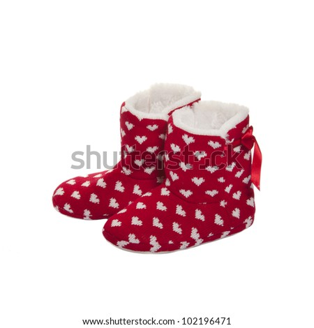 Home Knitted Ugg Boots Fur Inside Stock Photo Edit Now 102196471