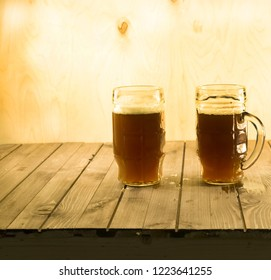 home kvass in large circles, the background of plywood, the lower background of the black Board.