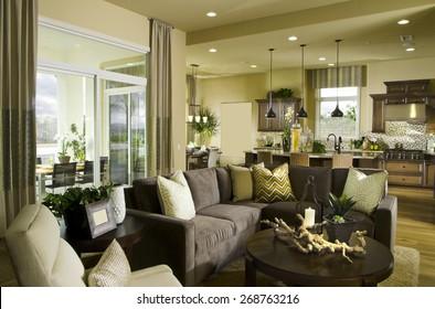 Home Living room Interior Design House Contemporary and Friendly, Family room