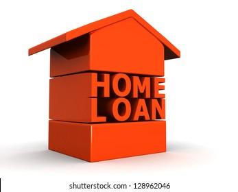 Home Loan concept 3d illustration