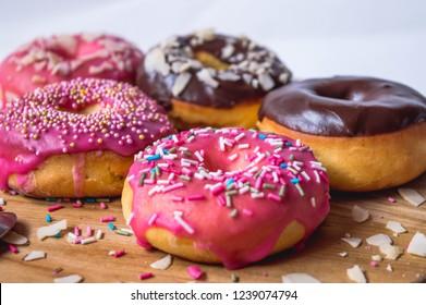 Home made baked doughnut