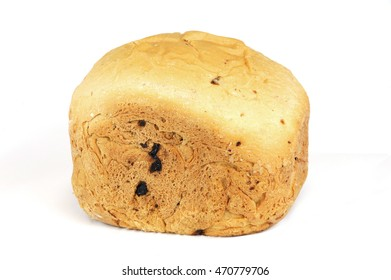 home made bread isolated on white background