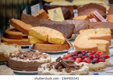 home made cakes on display at a country show
