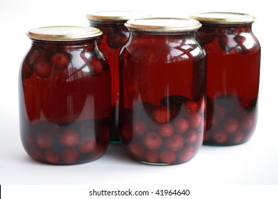 Home made cans of preserves