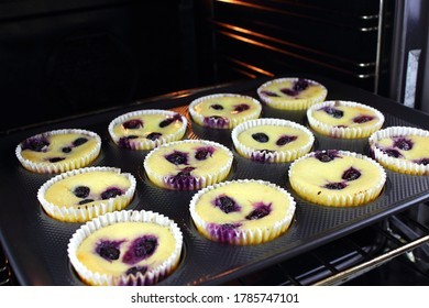 Home made cheese cakes straight from the oven
