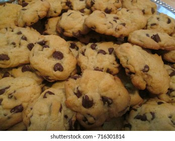 Home made chocolate chip cookies.