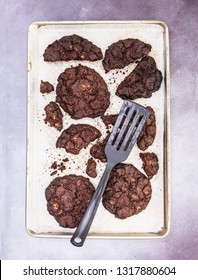 Home Made Chocolate Cookies on a baking tray