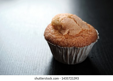 Home made cupcake with black and white background