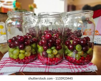 Home made fruit preserves in jars