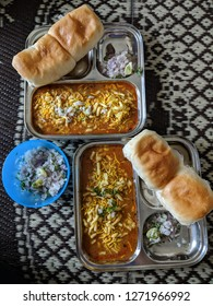 Home made misal pav, A popular meal consist of curry, farsan and bread. It is wildly popular in western Maharashtra, but making it at home is a healthy option to satiate the taste buds