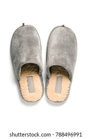 Home male slippers isolated
