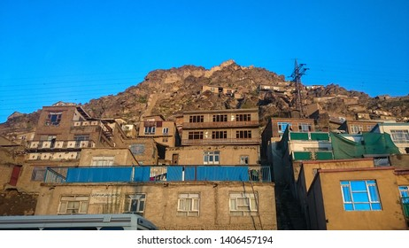 Home in Mountain, Kabul, Afghanistan