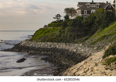 Home on the cliff overlooking the Atlantic Ocean in R.I.