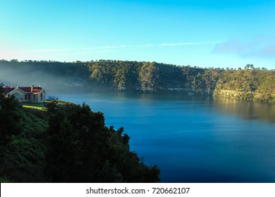 home overlooking the Blue Lake in Mount Gambier, Australia