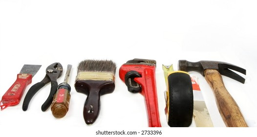 Home owner's project tools, for border or background use