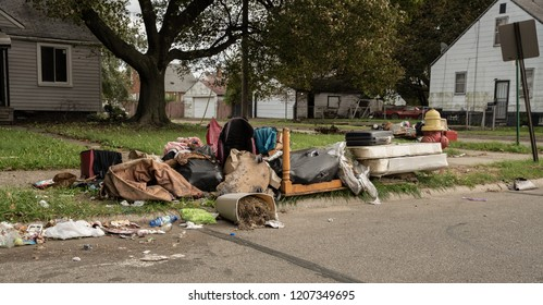 home owners were evicted and their possesions are dumped on the