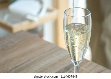 Home party champagne glass