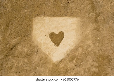 Home plate Love Baseball