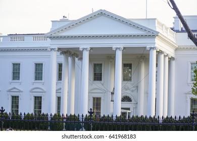Home of the President - The White House in Washington DC - WASHINGTON DC / COLUMBIA - APRIL 7, 2017
