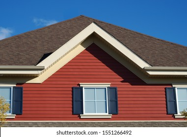 home property window roof red house pinion