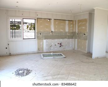 Home renovation kitchen room area