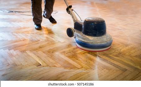 Home renovation, parquet sanding, polishin