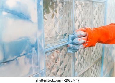 Home renovation - worker tiler