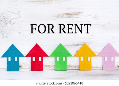 Home for Rent Concept with Small Houses in a Row