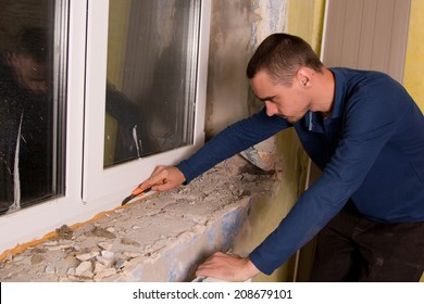 home repairs, replacement windows, window sill