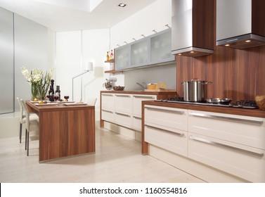home room and kitchen concept
