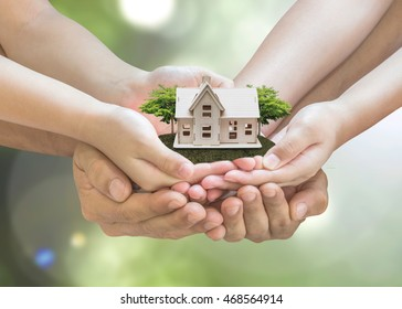 Home safety, house insurance, family assurance protection, and legacy planning concept
