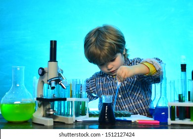 Home schooling. Learning at home. Science and education concept. First school day. Education. Kid from primary school. School chemistry lessons. Lesson Plans - Middle School Chemistry.