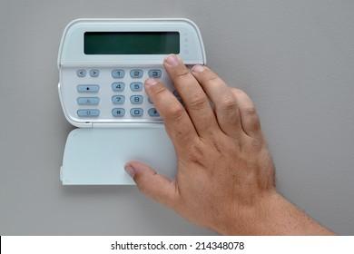 Home security alarm system keypad