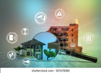 home security system abstract image visual