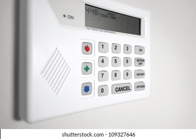 Home security system alarm