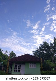 home with skyblue background
